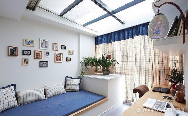 北渝新城90平米二居室小次卧改大居室装修效果图