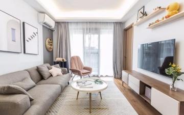 87平方米北欧风格装修效果图—东莞燕子居装饰