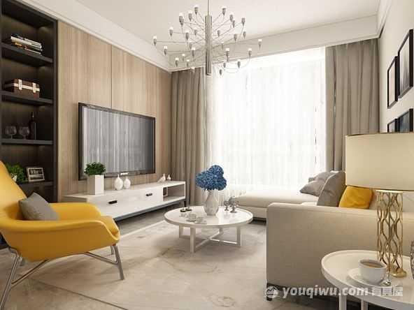润鑫宅院90平方米现代简约风格装修效果图