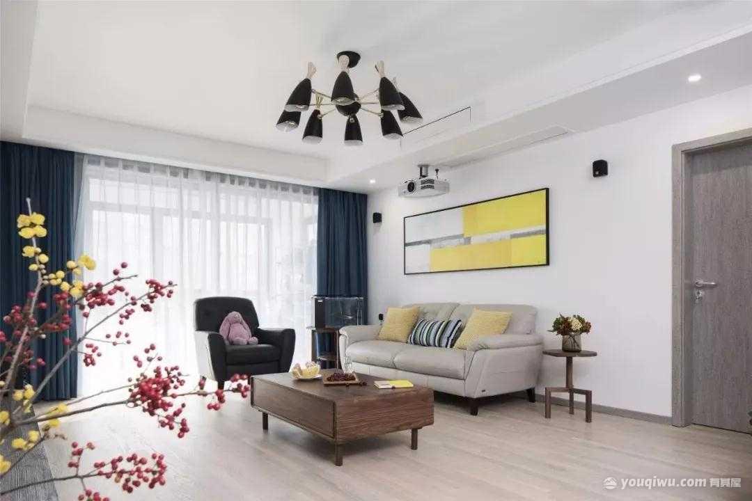 101平方米现代风格装修效果图—维诺设计