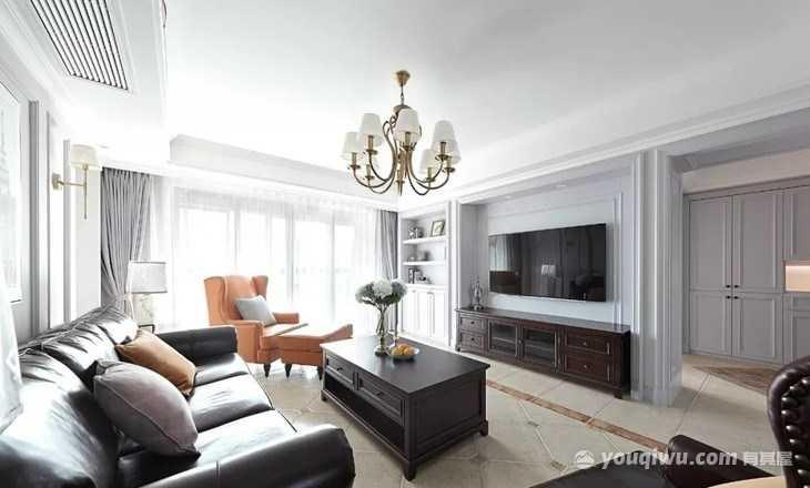 西河湾150平米四居室美式装修效果图