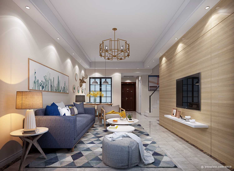 金地明悦125平米简约客厅装修效果图