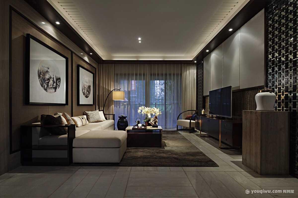 壹品海尚145平米四居室现代中式风格装修效果图