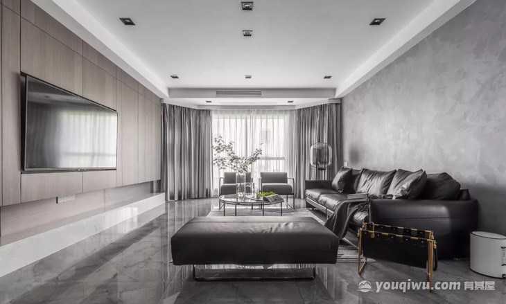 星河湾138平米四居室现代风格装修效果图