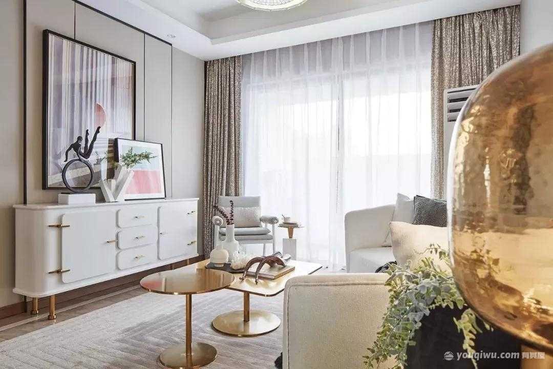 92平方米现代简约风格装修效果图—龙发装饰
