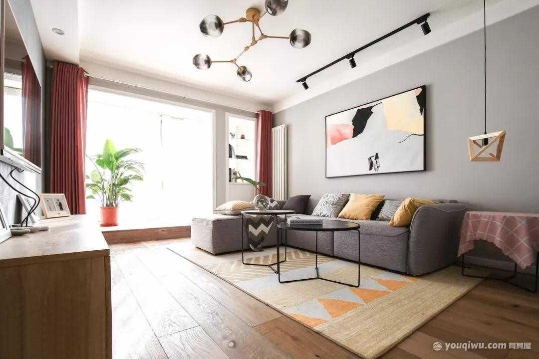 132平方米北欧风格装修效果图—上海红蚂蚁装饰