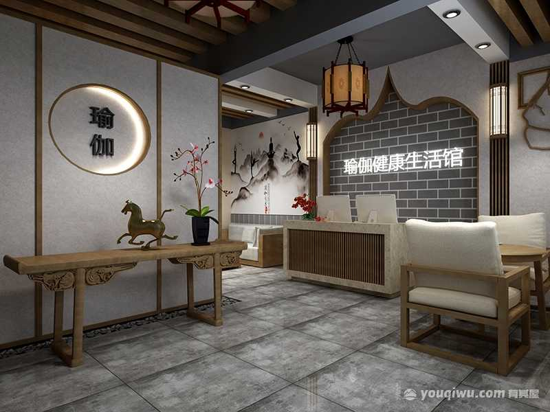 杭州瑜伽馆设计效果图案例