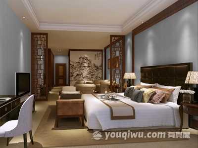 现代简约风格卧室装修效果图