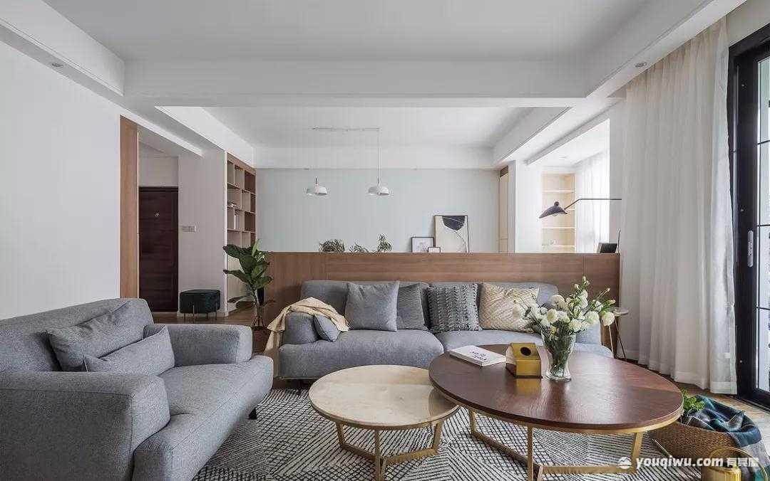 115平方米三室一厅北欧风格装修效果图