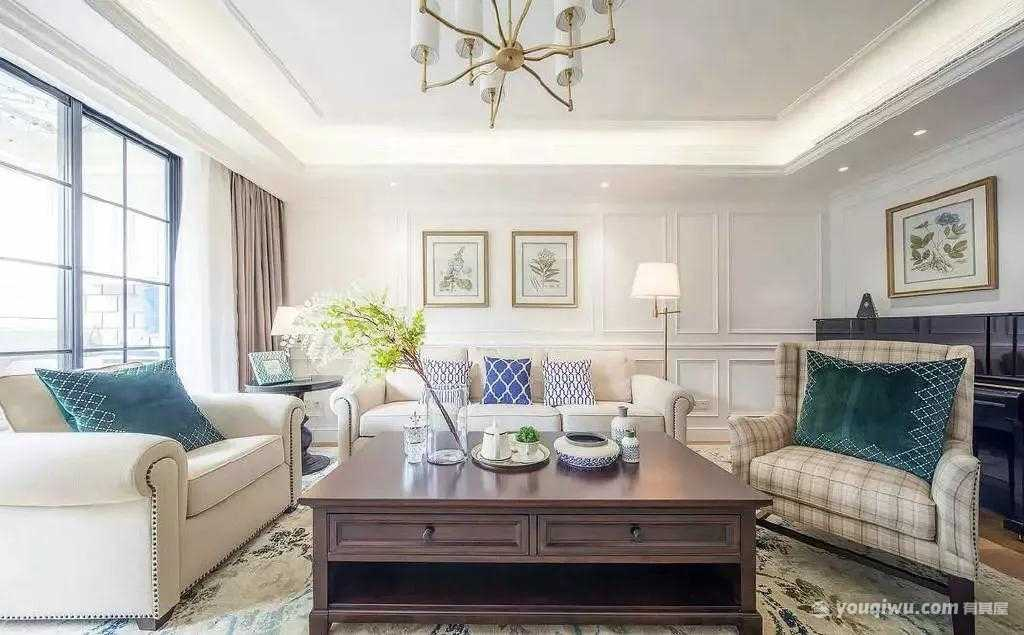美式风格客厅装修效果图—聚汇装饰