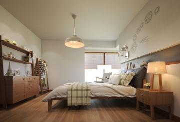 日式风格卧室装修效 ...