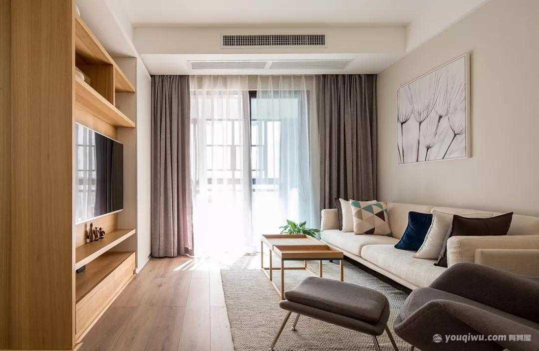 93平方米现代简约风格装修效果图—天海云宅装饰