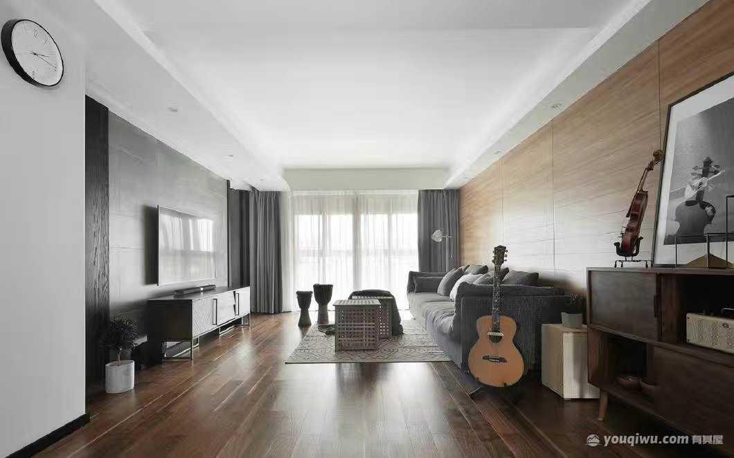 橄榄城润泽园80平米二居室现代简约风格装修效果图