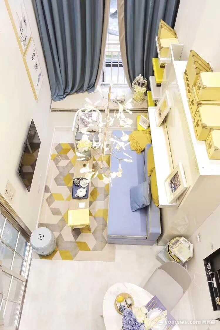 保利香槟国际70平米小户型loft现代风格装修效果图
