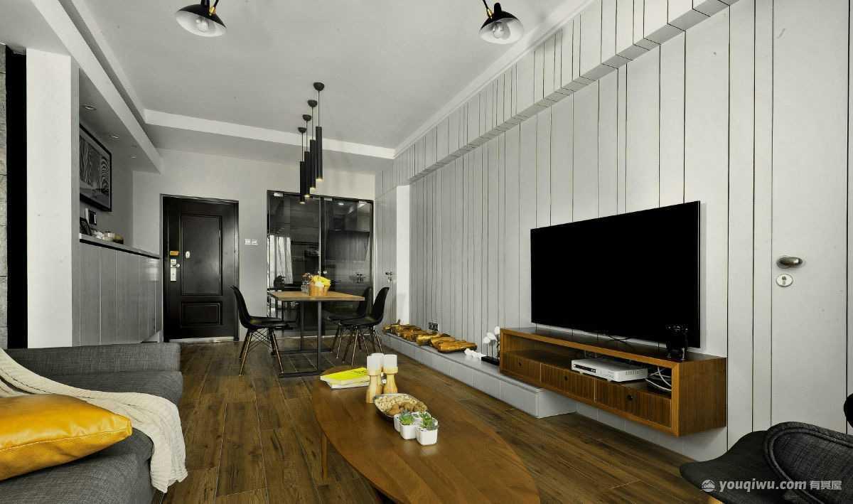 永威城80平米二居室北欧风格装修效果图