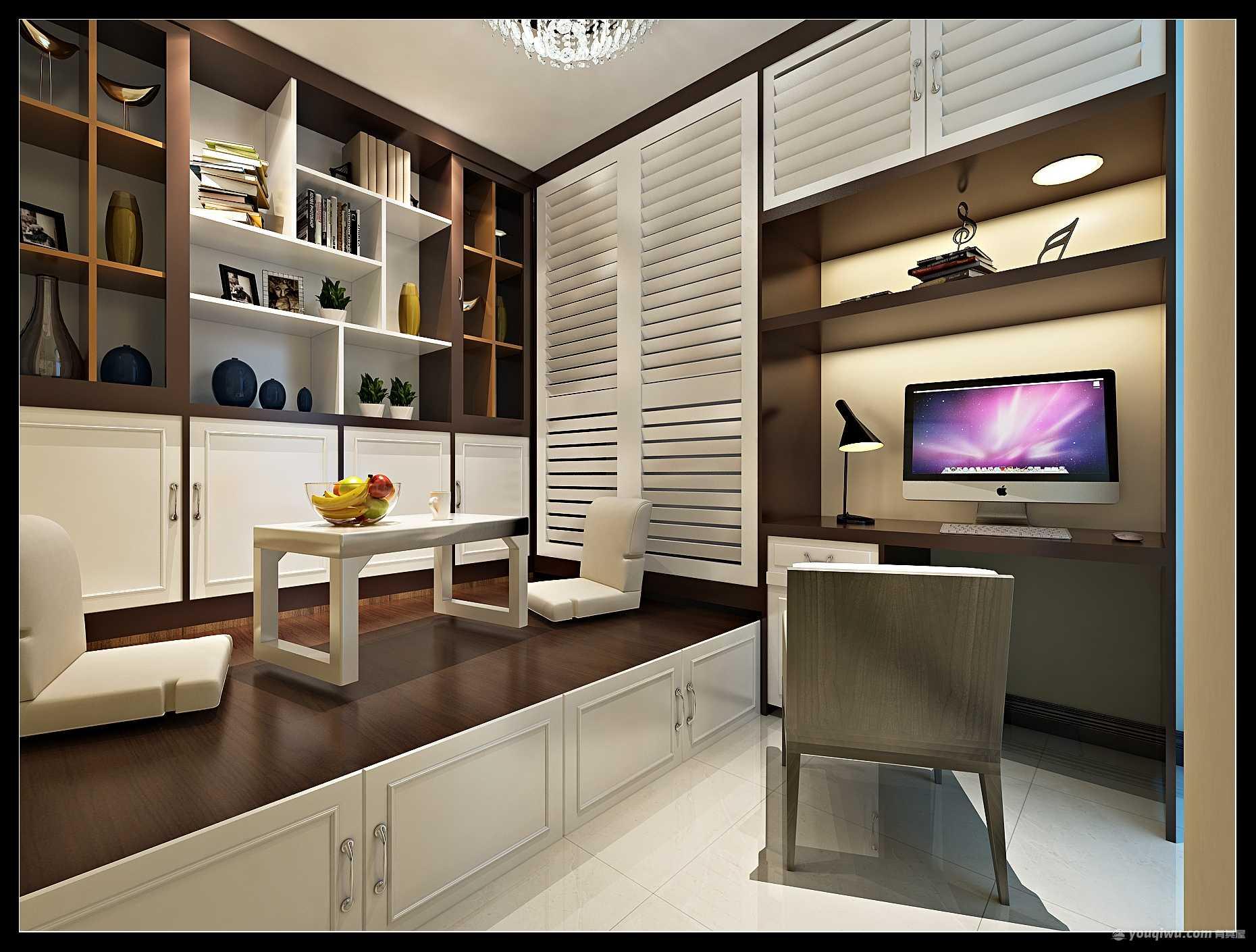 东方鼎盛100平米三居室简约风格装修效果图