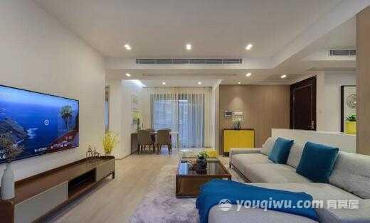 美泰晶座130平米三居室现代风格装修效果图