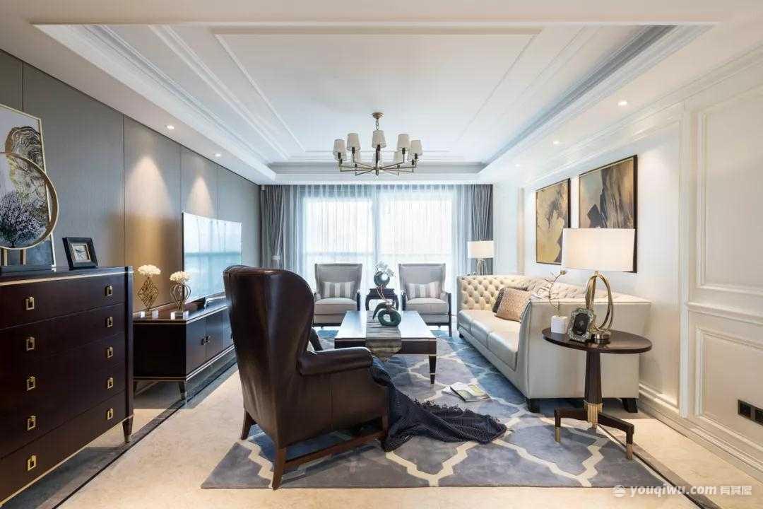 115平方米美式风格装修效果图—瑞森装饰