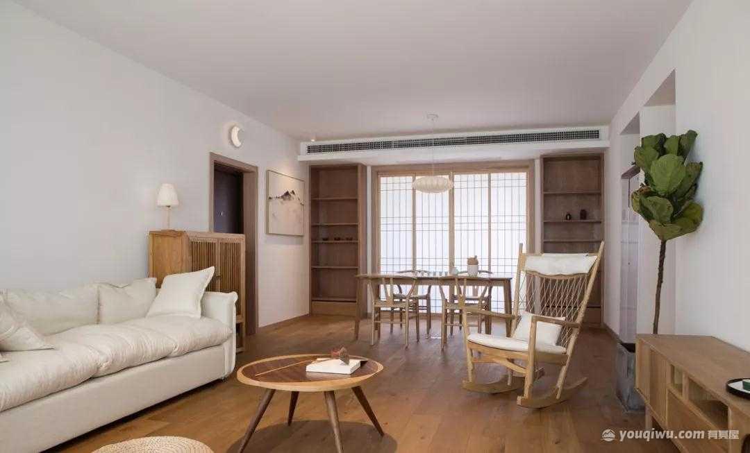 104平方米现代简约风格装修效果图—幸福家园装饰