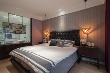 青年首府90平米二居室卧室/浴室/阳台欧式装修效果图