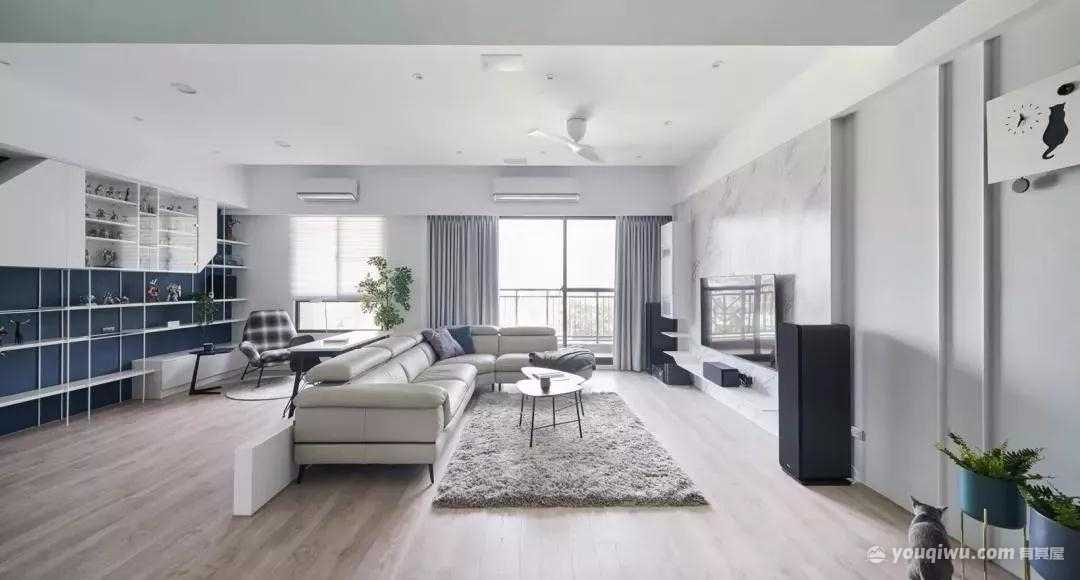 120平方米现代简约风格装修效果图—众诚芸装家居
