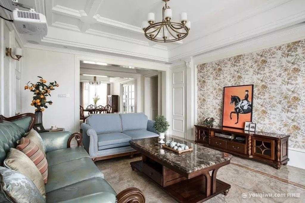 125平方米美式风格装修效果图—众诚芸装家居
