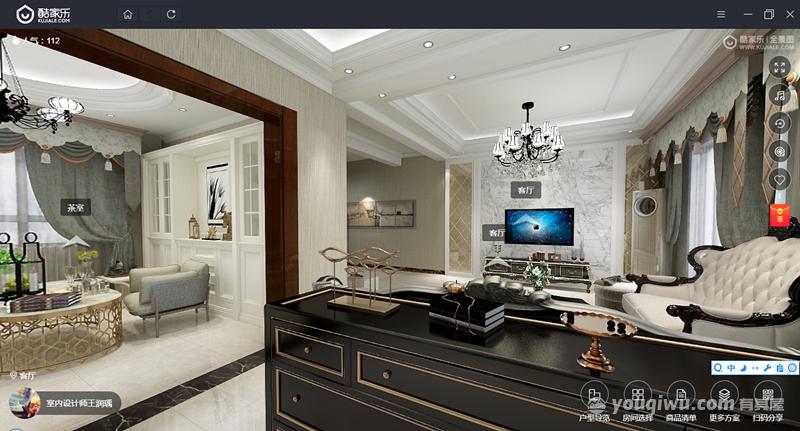 400平米复式房欧式风格装修效果图