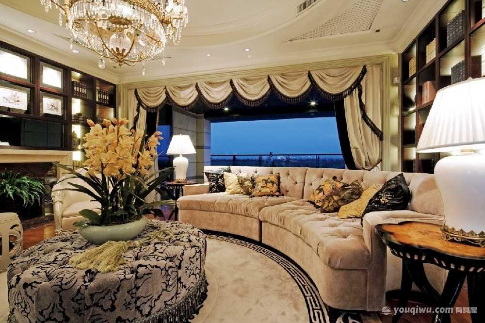 别墅豪宅265平方米简欧风格装修效果图