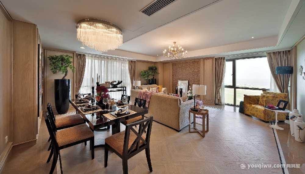 140平方米四室一厅简约风格装修效果图