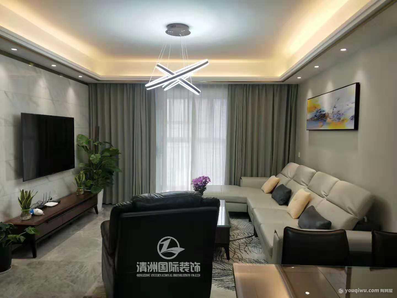 金科观天下125㎡三居室现代风格装修效果图