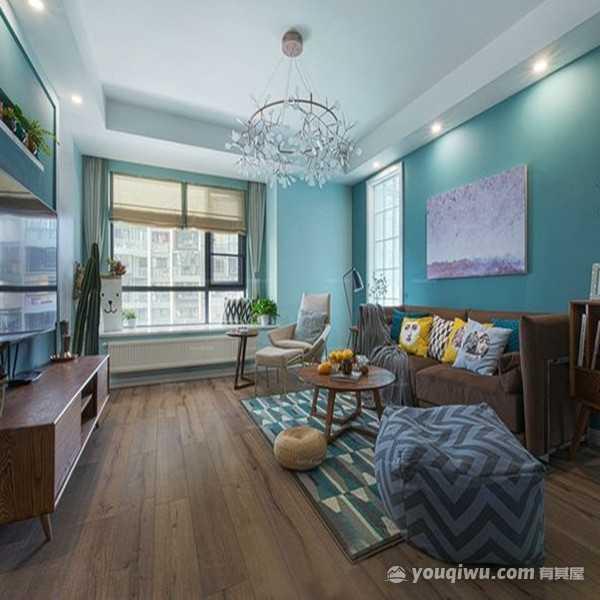 华润翡翠城3居室100平米北欧风格装修效果图