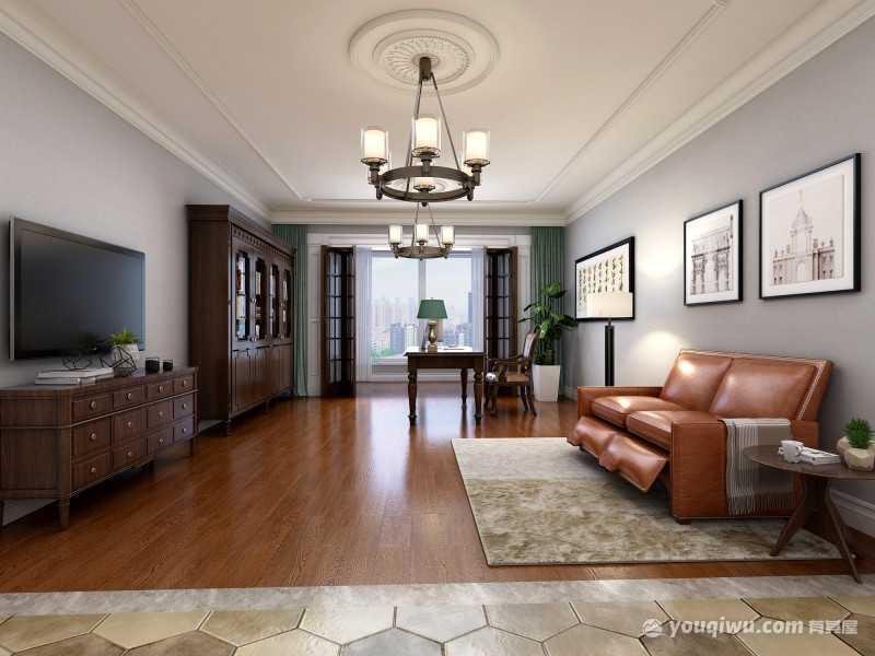 优雅都市四居室美式风格装修效果图