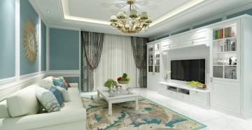 鹿港嘉苑120平米三居室现代风格装修效果图
