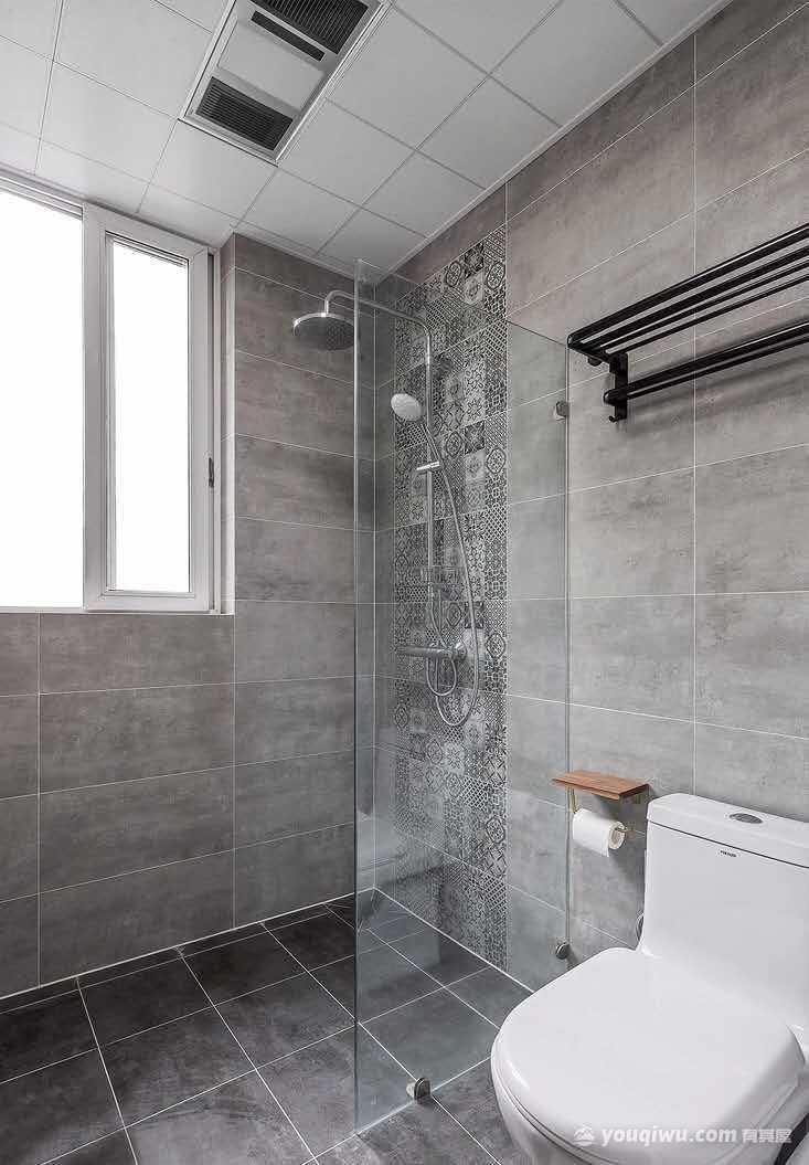 保利贝森126平米三居室北欧风格装修效果图