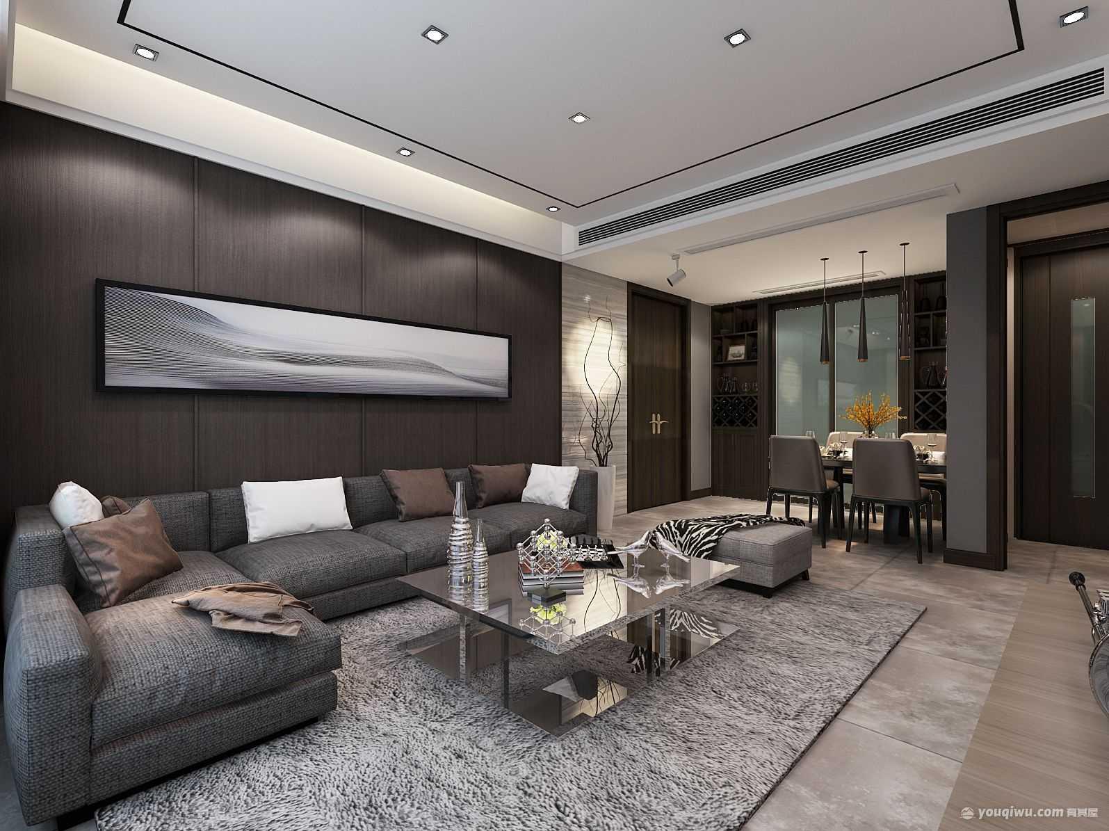 融侨悦城105平米三居室现代风格装修效果图