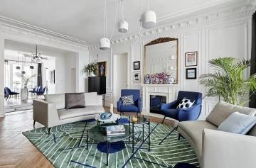 113平方米法式风格装修效果图—东莞燕子居装饰