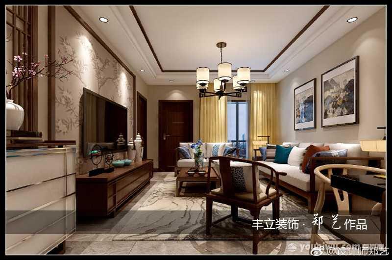 国际城97平米三居室韩式风装修效果图