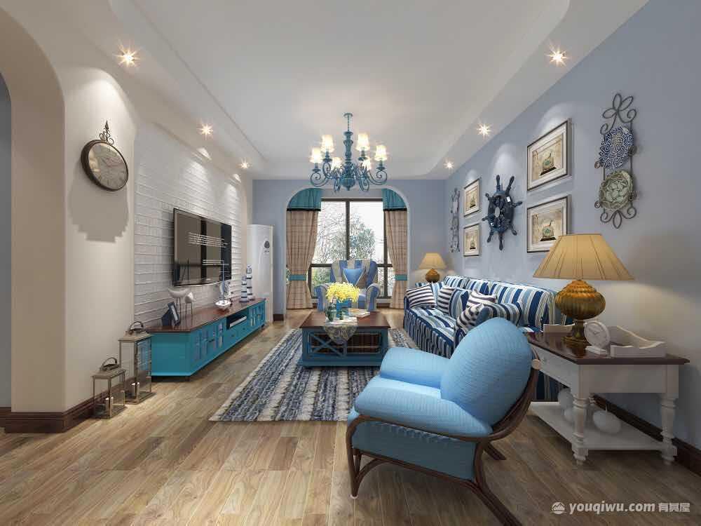 国际城150平米三居室地中海风格装修效果图