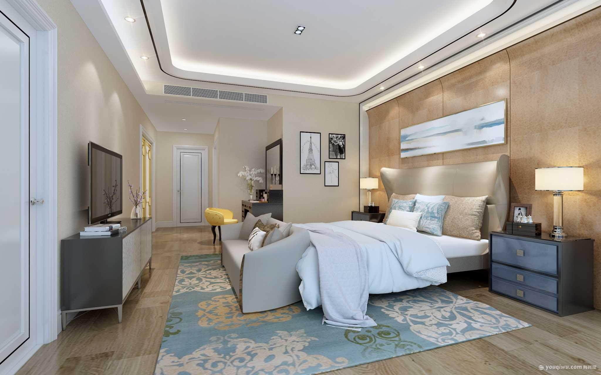 南滨特区120平米三居室简约风格装修效果图