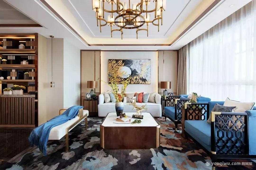119平方米中式风格装修效果图—上海红蚂蚁装饰