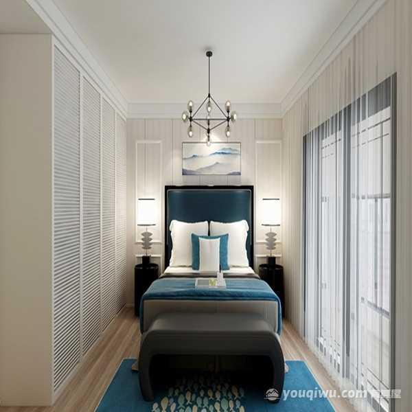 卧龙墨水湖边三居室125平米现代风格装修效果图