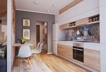 中山北里40平方米风单身公寓北欧风格装修效果图