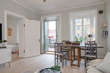 财信渝中城45平方米单身公寓欧式风格装修效果图