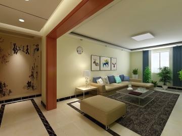 142平現代簡約風大三居裝修設計效果圖