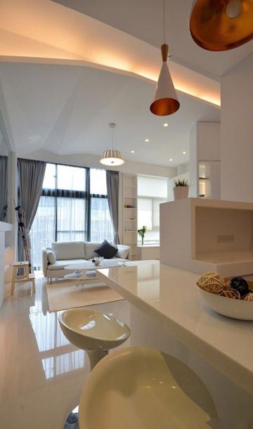 中山北里57平米简约风单身公寓装修效果图