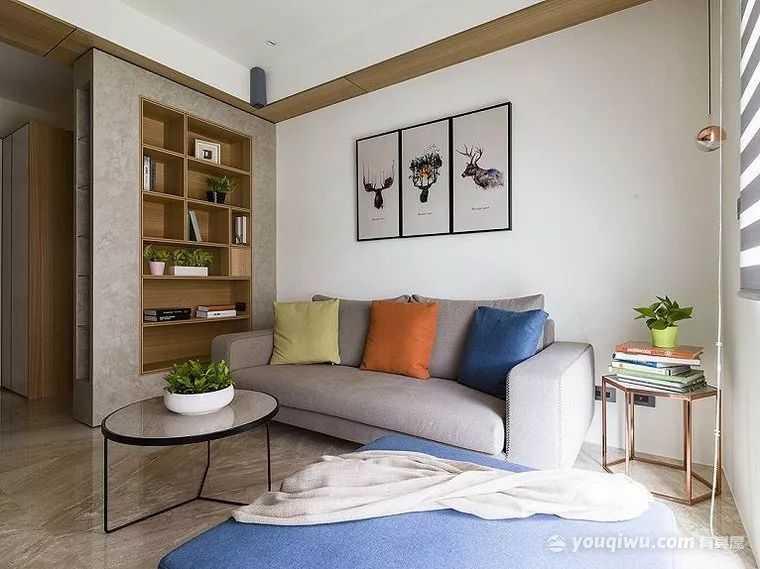 59平米小户型现代简约风装修效果图-杭州莀艺装饰