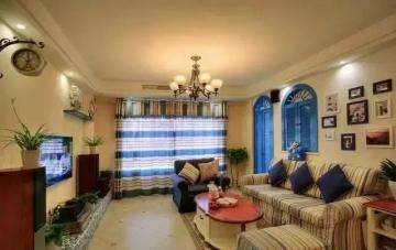 嘉境天城93平米三居室地中海风格装修效果图
