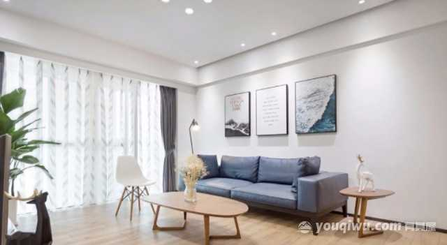 华润翡翠城138平米美式风格装修效果图