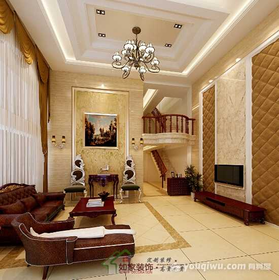350平米欧式风格别墅装修效果图