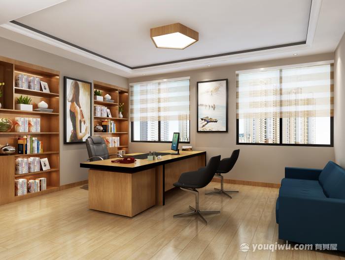 160平米简约小办公空间装修效果图